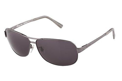 Klassische Marken Sonnenbrille für Herren von Burgmeister mit 100% UV Schutz | Sonnenbrille mit stabiler Metallfassung, hochwertigem Brillenetui, Brillenbeutel und 2 Jahren Garantie | SBM200-111