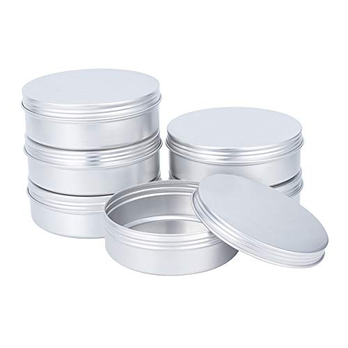 PH PandaHall 6 Pack 10oz Large Metal Storage Tin Jars with Screw Lid Metal Round Tins Containers Travel Tin Cans for Candles Arts Crafts Storage Cosmetics Party Favors
