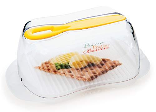 Snips Beurrier avec palmier Beurre 0,50 l Émail plastique, transparent