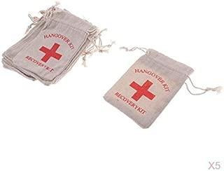 20 unidades 10 x 15/cm recovery kit/» AmaJOY Bolsas de regalo para boda hechas de algod/ón con cuerda de muselina con dise/ño de cruz roja y texto en ingl/és /«Hangover kit