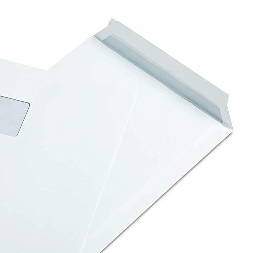 Zanders Gohrsmühle 250 Versandtaschen, DIN C4 120g/qm, Weiß, mit Fenster, Haftklebeverschluss, mit Innendruck