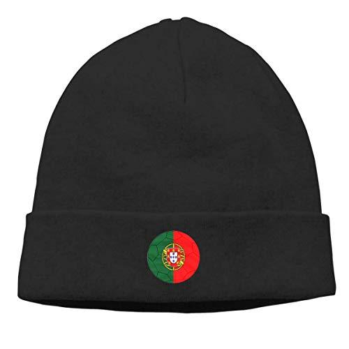 AEMAPE Bandera Portuguesa y fútbol Hombres Mujeres Comfortbale Soft Beanie Skull Cap