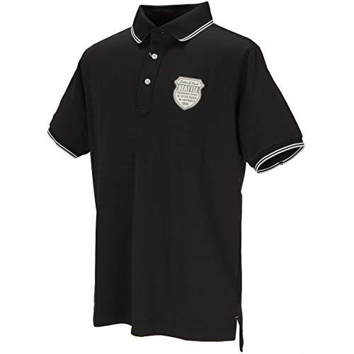 カッターアンドバック(カッターアンドバック) ソクイ半袖ニットポロシャツ CGMOJA03-BK00 (ブラック/LL/Men's)
