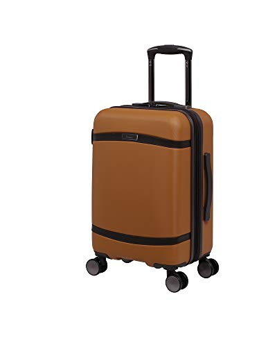 it luggage Quaint Hardside Expandable Spinner, Brown with Mulch Trim, Carry-On 21-Inch