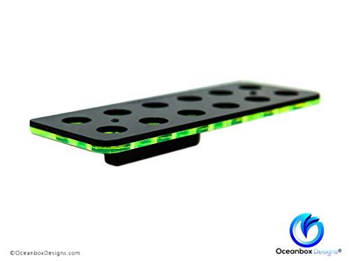 """Oceanbox Designs GLO Magnetic Mini Frag Racks (12 Frags, for 1/2"""" Glass, Atomic Orange)"""