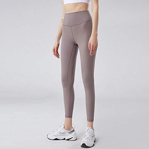 Leggins Largos Mallas Deportivas Mujer,Pantalones de yoga desnudos cepillados de doble cara para mujer, pantalones de cadera adelgazantes de cintura alta-Mysterious green_L,Leggins para Damas