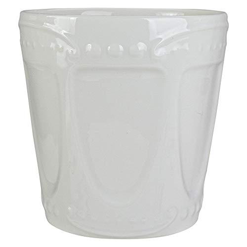 4.75' White Ceramic Ice Cream Serving Dish
