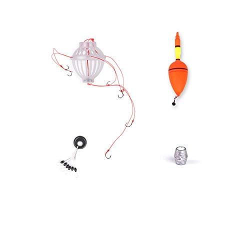 Angelposen, Silberfarben, Karpfenangeln, Bobber, Meeresmonster, mit sechs starken Explosionshaken, Angelzubehör Set für