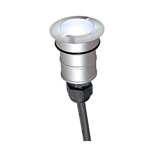 SLV Bodeneinbauleuchte POWER TRAIL-LITE / LED Spot für Terrasse, Outdoor-Strahler, Einbau-Lampe Garten, Bodenlampe für Außen / IP67 4000K 1.0W 48lm edelstahl