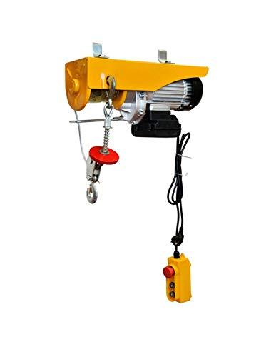 WinchPro - Polipasto Eléctrico 220V, Capacidad de 400/800Kg, Potencia del motor 1450W, Max. Altura de Elevación 12M, Construcción Robusta, Diámetro de la Cuerda de Acero 6mm ⭐