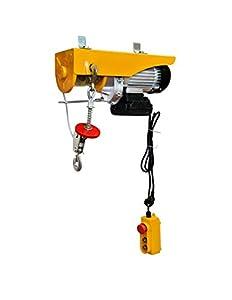 WinchPro - Polipasto Eléctrico 220V, Capacidad de 400/800Kg, Potencia del motor 1450W, Max. Altura de Elevación 12M, Construcción Robusta, Diámetro de la Cuerda de Acero 6mm