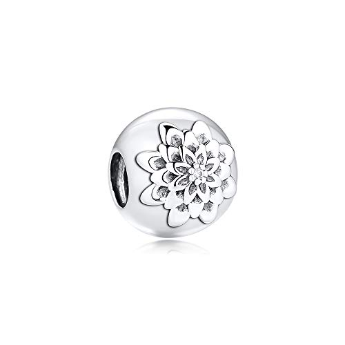 CKK DIY Beads Fit Pandora Bracelet 925 Sterling Silver Dazzling Daisies Flower Bead Charms Authentic Jewelry Making