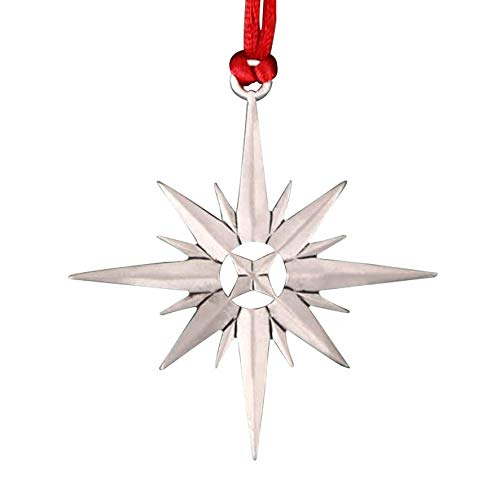 TZSSP Pewter Decorative Hanging Ornaments Holiday Christmas Ornament , Exploding Star