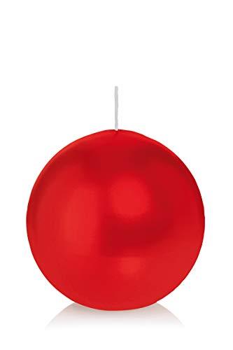 wiedemann kerzen Kugelkerzen Rot Ø 80 mm, 6 Stück, rußarm, tropffrei, hochwertiger Docht