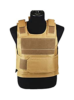 ThreeH Protective Tactical Vest Lightweight Adjustable for Airsoft Training Hunting Paintball Games,Khaki