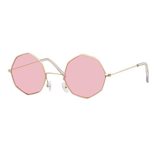 ZRTYJ Gafas de Sol Moderno Caramelo de Color Gafas de Sol Mujeres Diseñador de la Marca Hexágono Espejo Femenino Sunglass Lentes Transparentes Gafas de Sol Transparentes