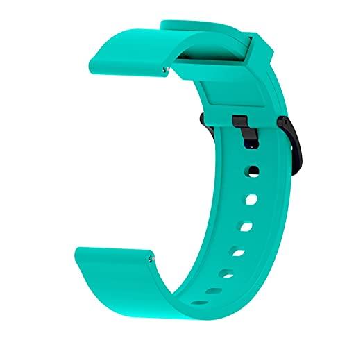 para Haylou LS02 Correa Pulsera De Pulsera De Reemplazo De Silicona para Xiaomi Haylou LS02 Smart Watch Correa para Amazfit GTS (Color : Mint Green, Size : For Haylou LS02)