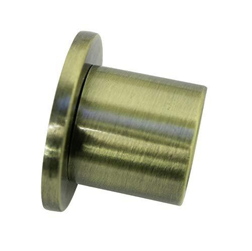 Gardinia Soporte de Pared para Cortinas (diámetro, 2 Unidades), latón Envejecido, Ø 16 mm, 2