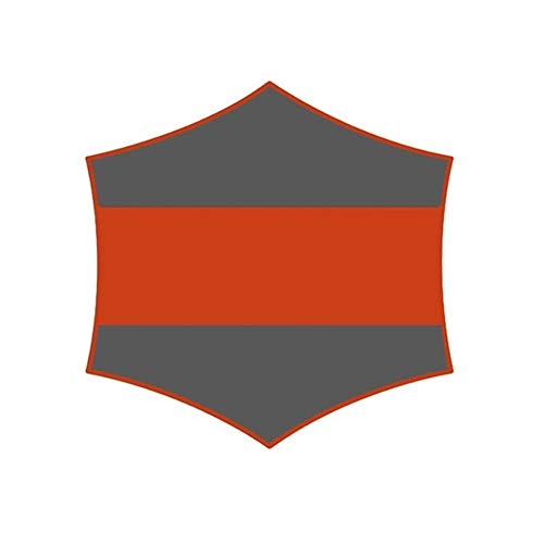 YOBAIH Toile ImperméAble pour Terrasse Camping Tente Tarp Grand imperméable hamac Pluie Fly Sun Shelter Portable Tente Auvent Plage Ombre avec Pegs Cordes (Color : Orange with Gray)