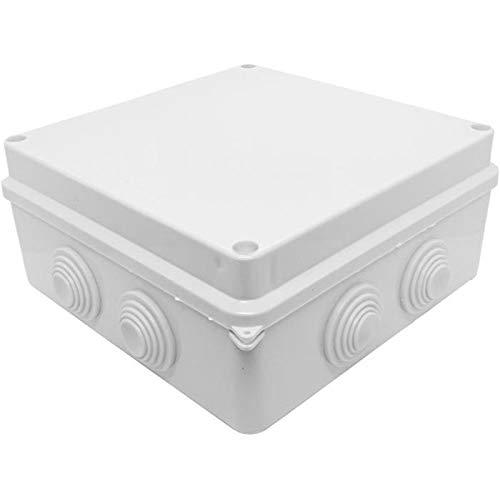 Caja de conexiones IP65 150x150x70mm 8 Aberturas Caja de empalme Blanco Terminal Conexión