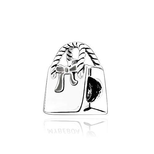 LILIANG DIY Fit Original Pandora Armbänder Mädchen Geschenk 925 Sterling Silber Perlen Handtasche Charme Frauen Modeschmuck