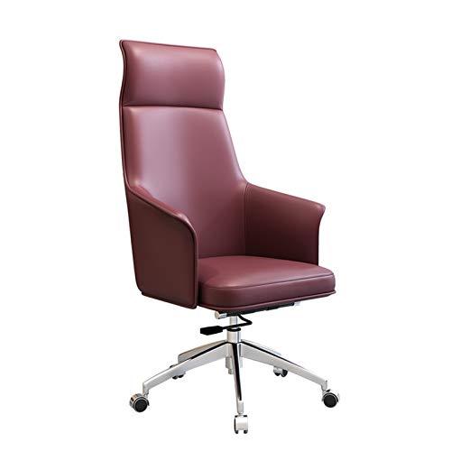 SMLZV Sedia ufficio, Sedia da ufficio ergonomica, sedia da ufficio alto reclinabile, sedia da scrivania regolabile in altezza, poggiatesta con bracciolo e supporto per il supporto di supporto lombare,