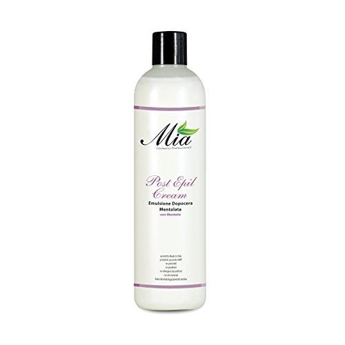 Emulsion après-cheveux avec menthol, crème post-épilatoire, élimine les restes de cire, lait après traitement professionnel pour esthéticienne - Bouteille de 500 ml