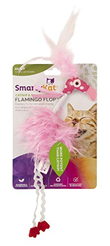 SmartyKat Flamingo Flop Feathered Catnip and Silvervine Cat Toy