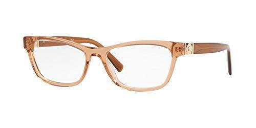 Versace 0VE3272 Monturas de gafas, Transparente Brown, 54 para Mujer