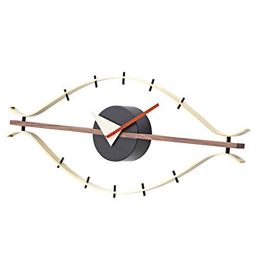 NMDD Reloj de Ojo Creativo, Reloj Ornamental de Hierro para Colgar en la Pared de Estilo Moderno, decoración de la Pared del Comedor de la Sala de Estar, silencioso y sin tictac de Calidad operad