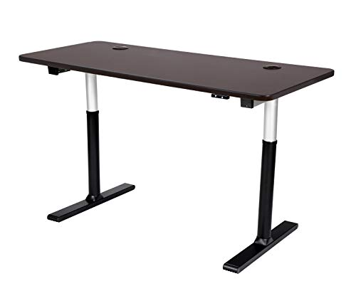 ApexDesk Vortex Series 60' 2-Button Electric Height Adjustable Sit to Stand Desk, Espresso Top with Standard Controller
