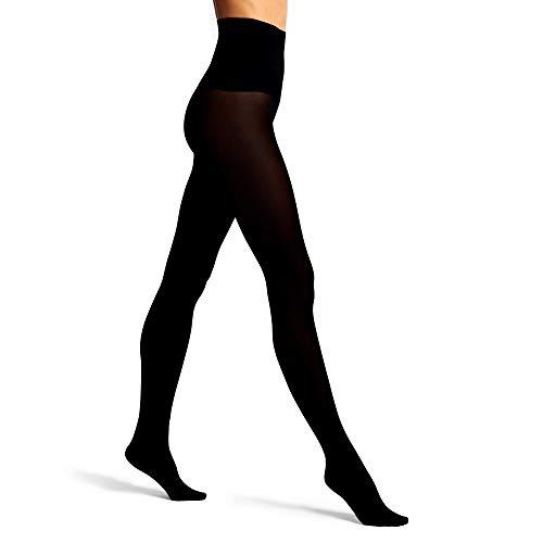Hedoine nahtlose Strumpfhosen für Damen, 100 Denier, laufmaschenfrei, figurformend, shaping, vegan, hauchdünne Nylons - The BOLD Schwarz