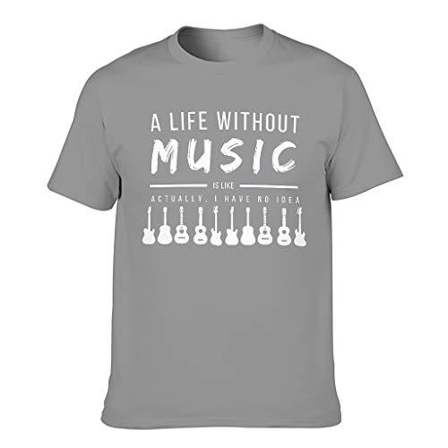 Camiseta de verano para hombre, diseño con texto en alemán 'Ein Leben ohne Musical' Gris oscuro. XXXXXXL