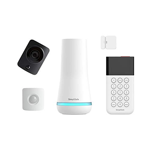 SimpliSafe 5 Piece Wireless Home Security System w/HD Camera - Optional 24/7 Professional Monitoring - No Contract - Compatible with Alexa and Google Assistant