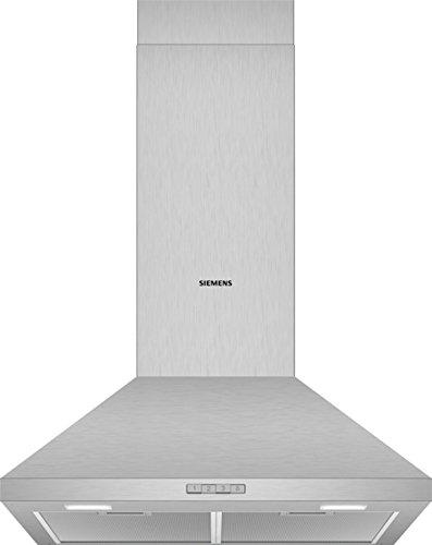 Siemens LC64PBC50 Dunstabzugshaube/Wandhaube / 60 cm/Lüfterleistung/Metall-Fettfilter/Edelstahl