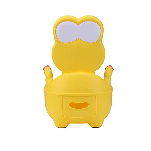 Vasino Poltroncina con non tossico Materiale Vasino Poltroncina per i bambini e del bambino di sicurezza e comfort a cassetto Bambino igienici Frog toletta del bambino infantile del bambino,Giallo