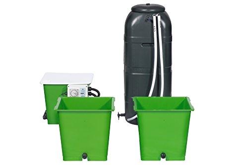 The Green Man System - Kit de Cultivo hidropónico para 2 ollas, para inundar y drenar