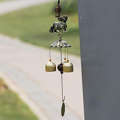 CJH Auspicious Animal Metal Wind Bell opknoping koper bel opknoping deur tuin huis muur opknoping anti-diefstal handmatige deurbel