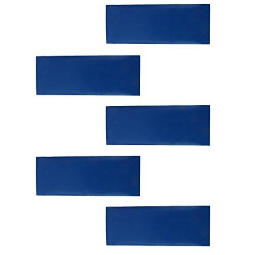 F Fityle 5 Parches de Reparación Adhesivos Impermeables para Tienda de Campaña, Toldo, Mochila, Bolsa - Azul, 200 x 76 mm