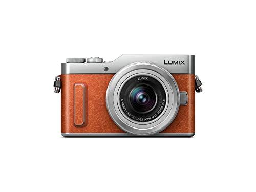 Panasonic Lumix G DC-GX880KECD - Cámara Evil de 16 MP (M4 3, pantalla táctil abatible, tecnología DFD, WiFi, 4K, tamaño bolsillo) - kit con objetivo Lumix Vario 12-32mm   F3.5-5.6, color naranja