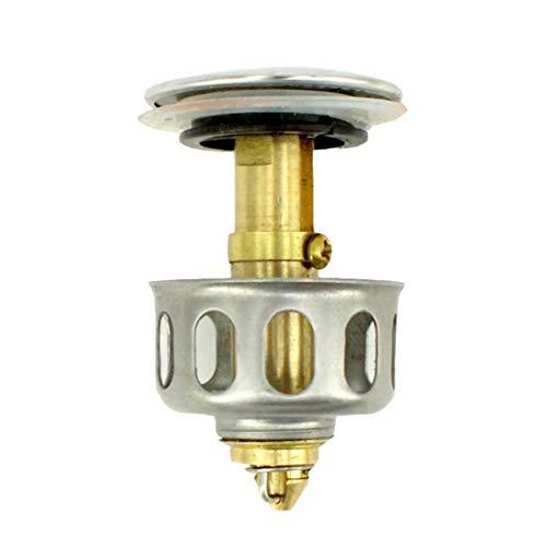 Pop Up Spülbeckenfilter Ablaufrohrschutz Ablauffilter für Spülbecken Abfluss Waschbecken Abflussstopfen, Waschbecken Ablassschraube mit Korb (2 STÜCK)
