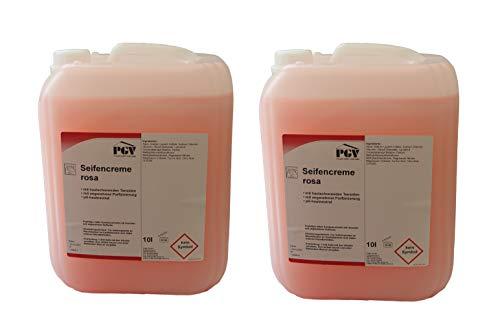 Seife - ROSA - Cremeseife Seifencreme Flüssigseife 10 Liter Kanister (2 x 10 Liter)
