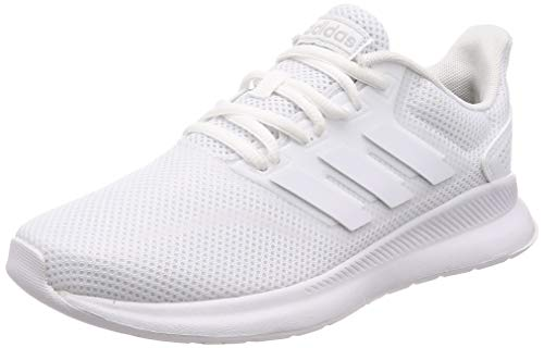 adidas Damen Falcon Road Running Shoe, Cloud White Cloud White Core Black, 39 1/3 EU