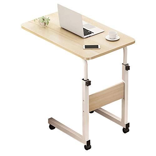 Notebooktisch, Laptoptisch Höhenverstellbar, Mobiler Betttisch Auf PC-Tisch mit Rollen, Computertisch Bett-Beistelltisch for Krankenbett, Pflegebett