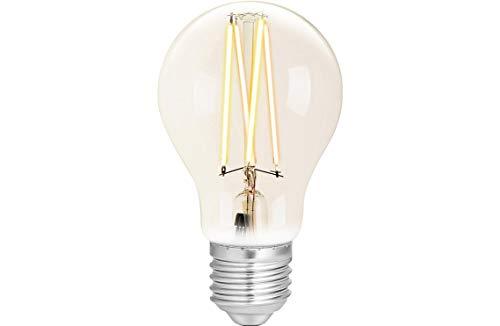 WiZ Smart LED Leuchtmittel White Clear A60 E27 (Dimmbar, 6,5W-60W Leistung, 2200K-5500K, lm810, App & Voice Control Alexa, Siri, Google & IFTTT), Weiß Filament Klar, A60-E27