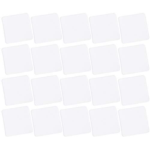 EXCEART 20 Piezas de Cinta Adhesiva de Doble Cara Cinta Adhesiva Extraíble para Pared Cinta Adhesiva Lavable sin Seguimiento Pegatina Transparente para Manualidades Gancho de Azulejo de