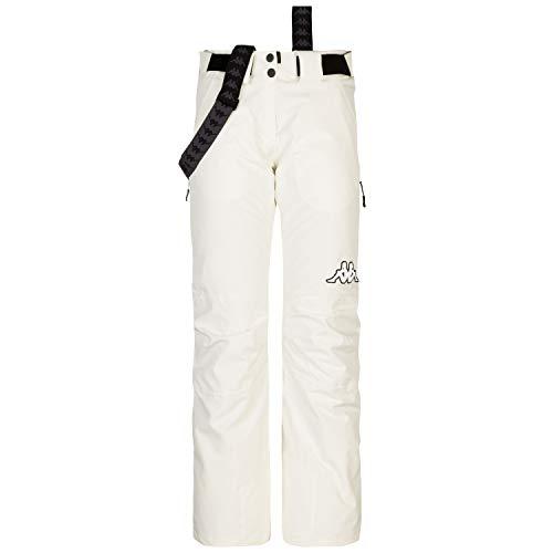Kappa 6CENTO 634, Pantaloni Donna, White Antique, S
