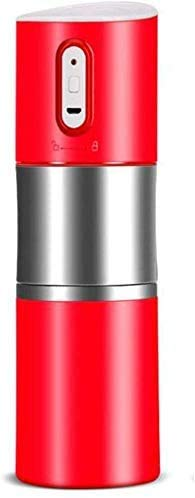 LXYZ Espressomaschine, tragbare elektrische Kaffeemühle, einstellbare Kaffeemaschine mit Einer Tasse Kaffeemaschine mit integriertem Mahl- und Brühsystem für das Reisecampingbüro, weiß