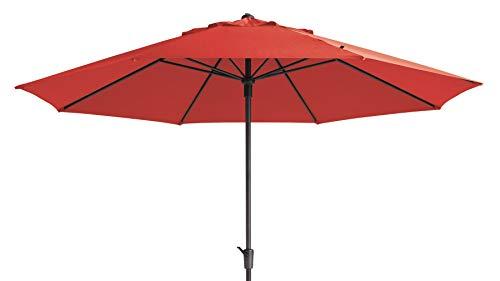 Mad Absolut wetterfester Gartenschirm Timor Luxe 400 Brick rot, mit Kurbel, UV-Schutz 50 Plus