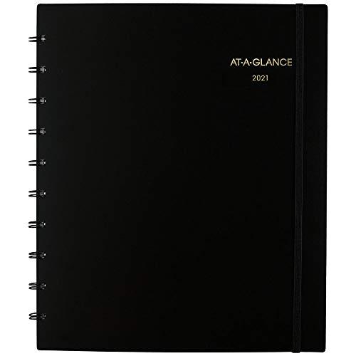 AT-A-GLANCE - Planificador mensual 2021 (29 x 11 pulgadas), grande, encuadernado con alambre, movimiento a página, color negro (70260E0521)